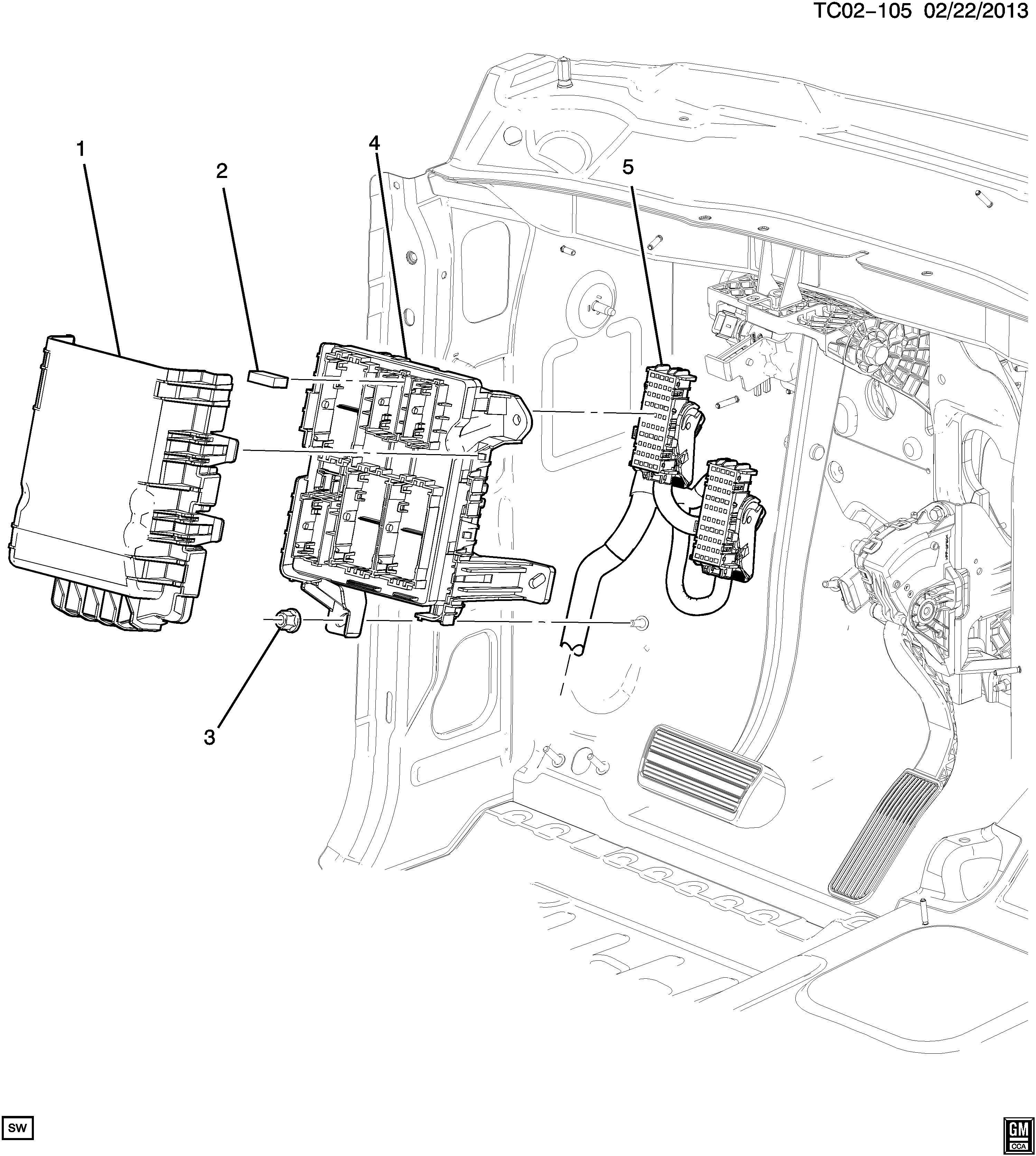 Chevrolet Tahoe Block Wiring Junction Block Body Wrg