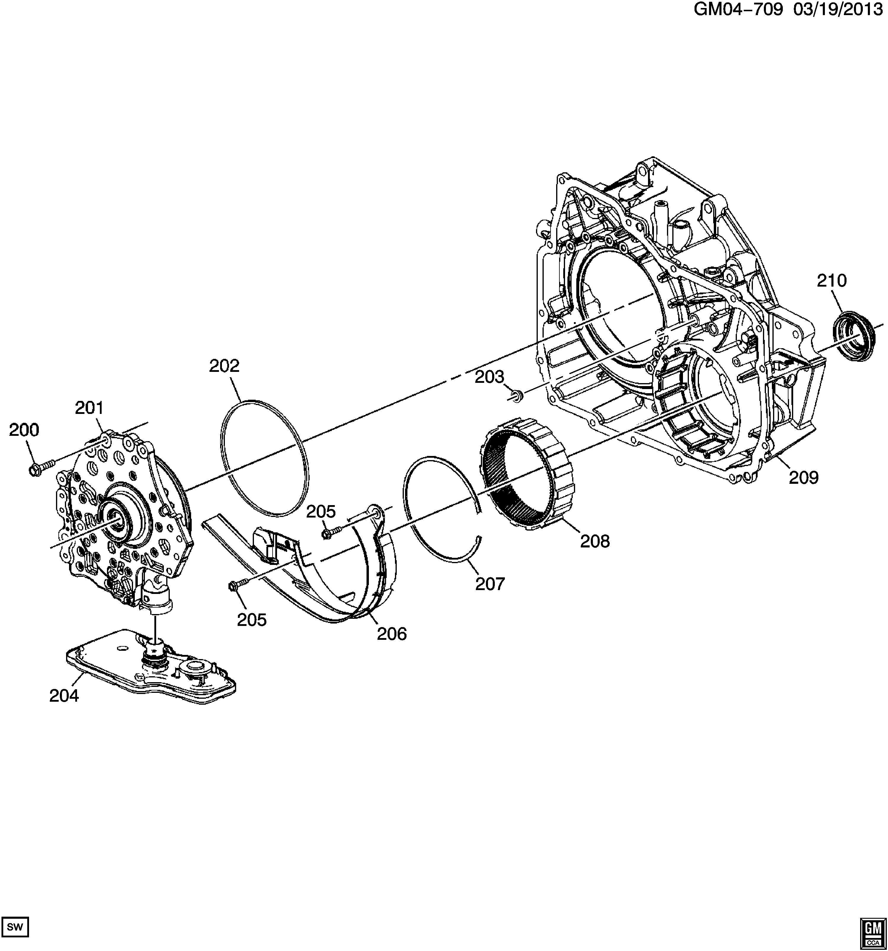 Chevrolet Cruze Seal Kit Front Wheel Drive Axle