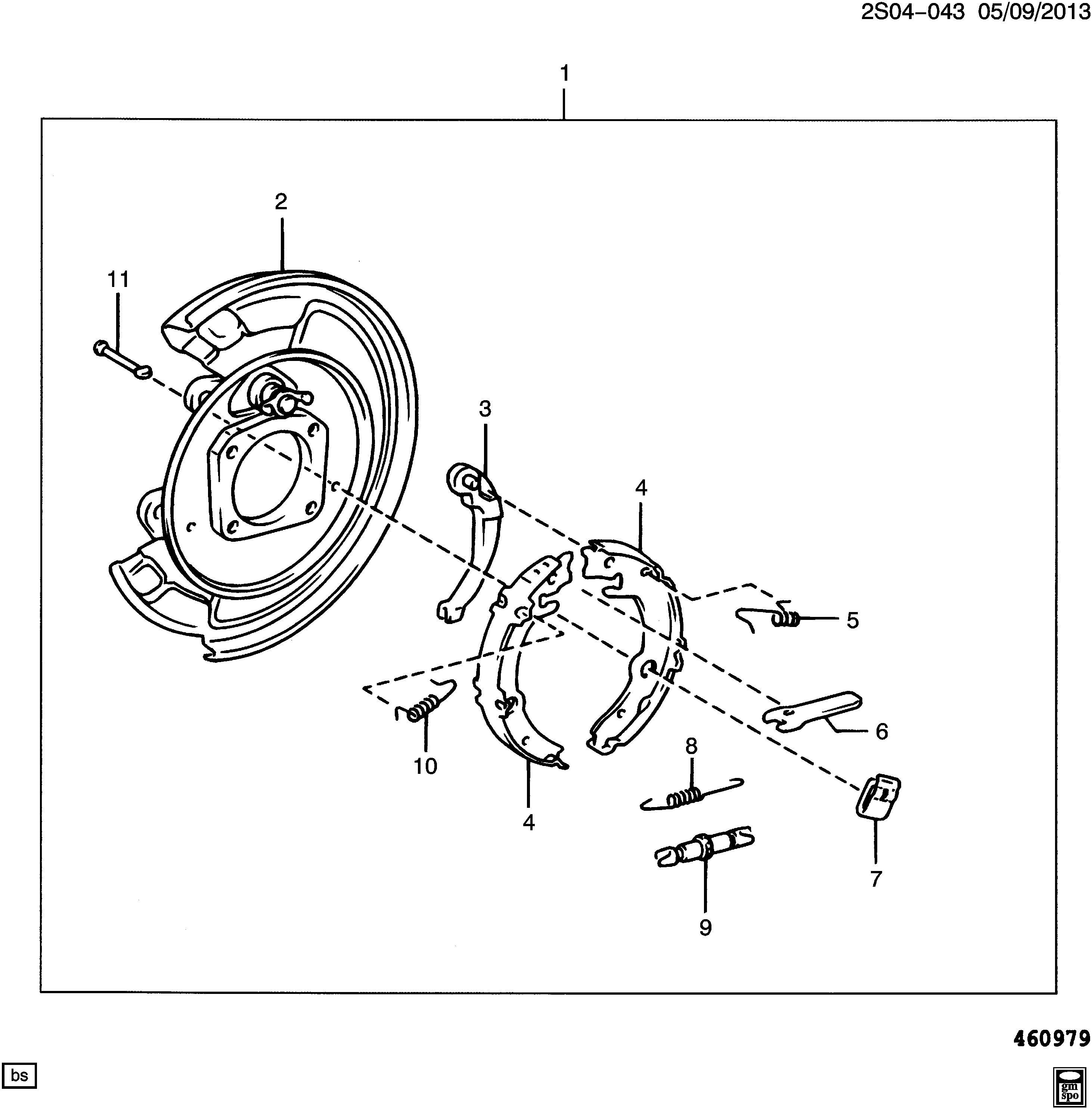 Pontiac Vibe Plate Brake Flange Backing Plate Rr