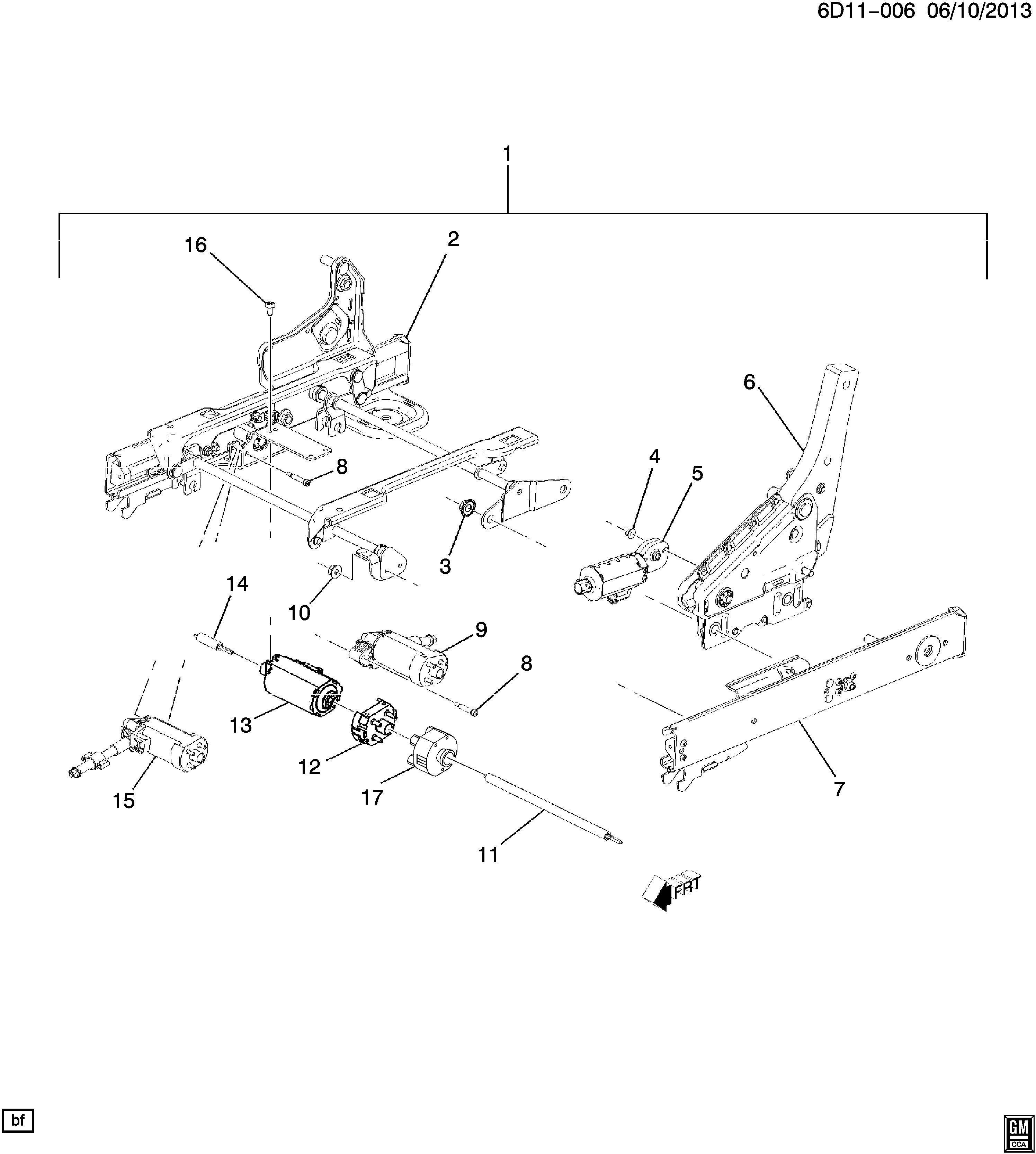 Cadillac Cts Motor Front Seat Adjuster