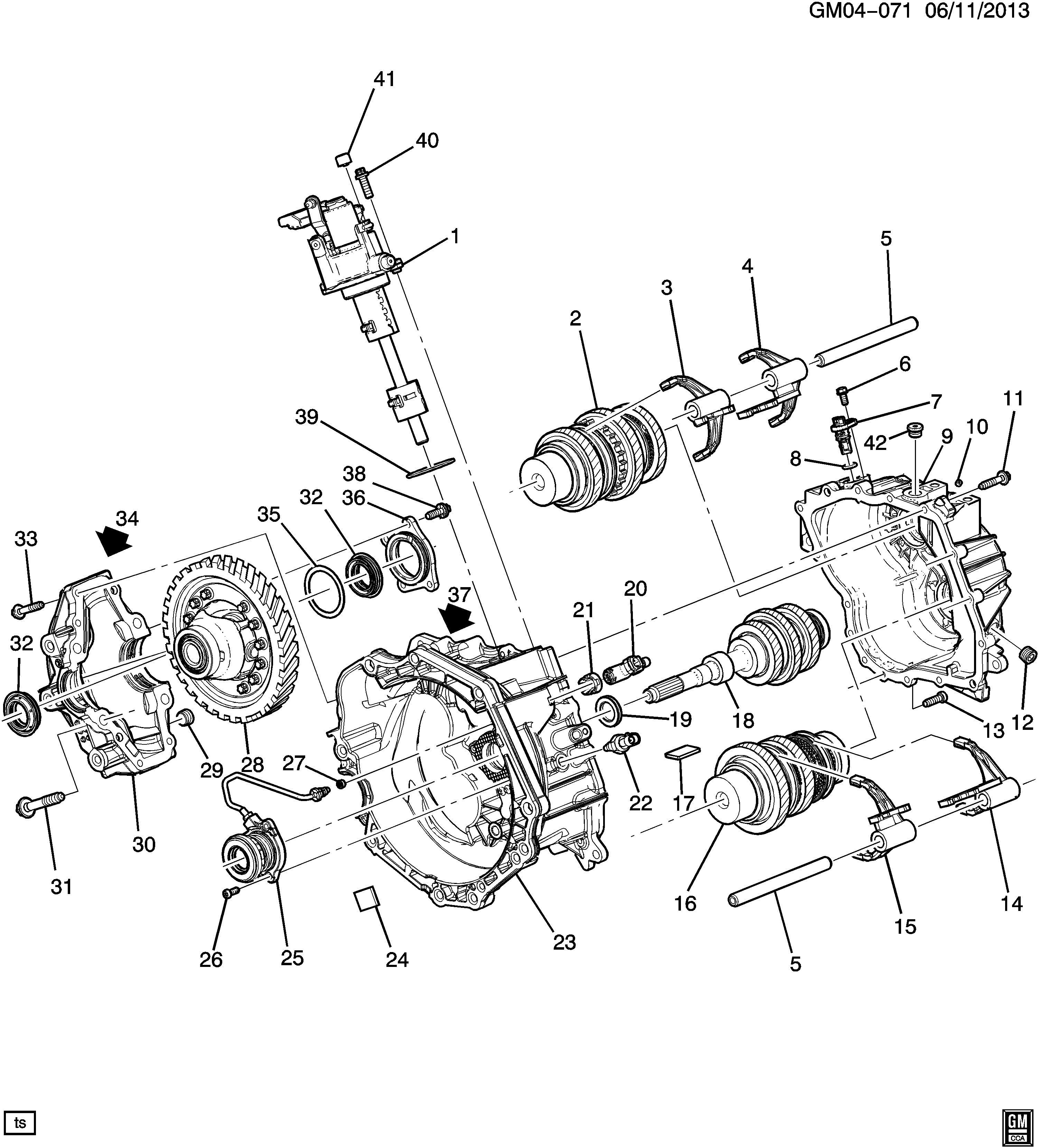Exploded View Of Chevrolet Manual Gearbox
