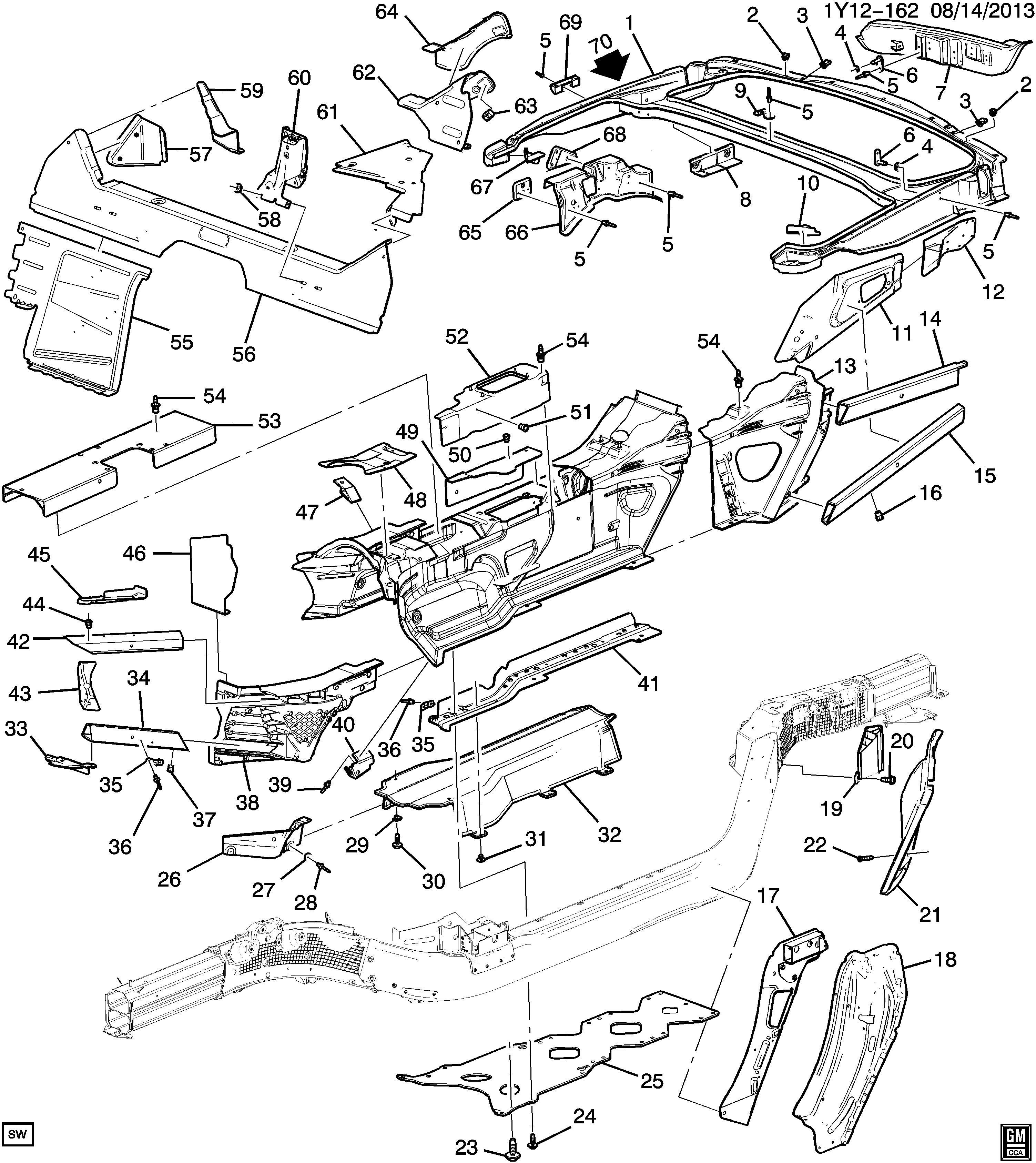 Chevrolet Express Floor Pan Stud Nut Chassis