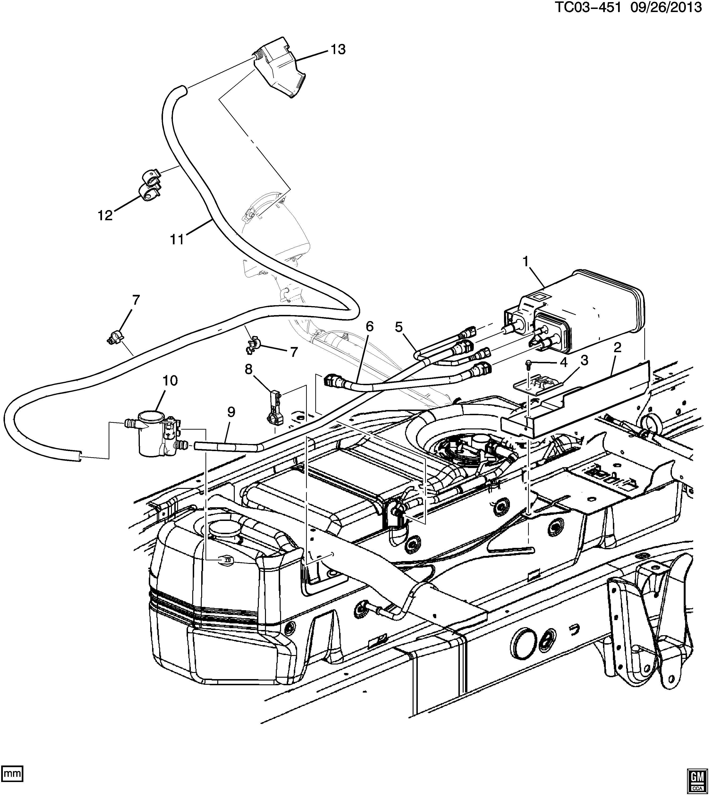 Gmc Yukon Shield Fuel Tank Evaporator Purge Control