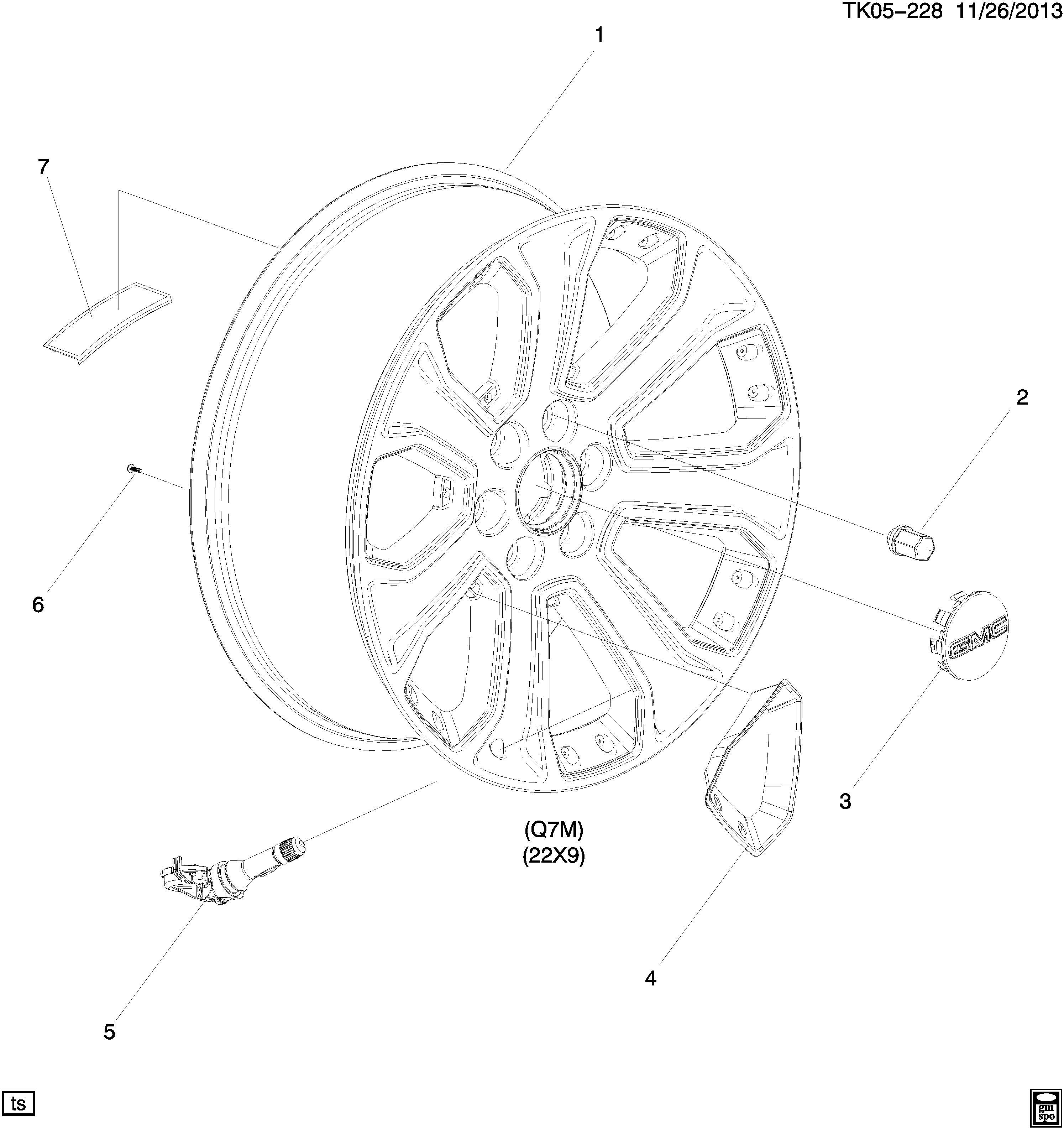 Gmc Sierra Wheel Rear Or Spare Wheel