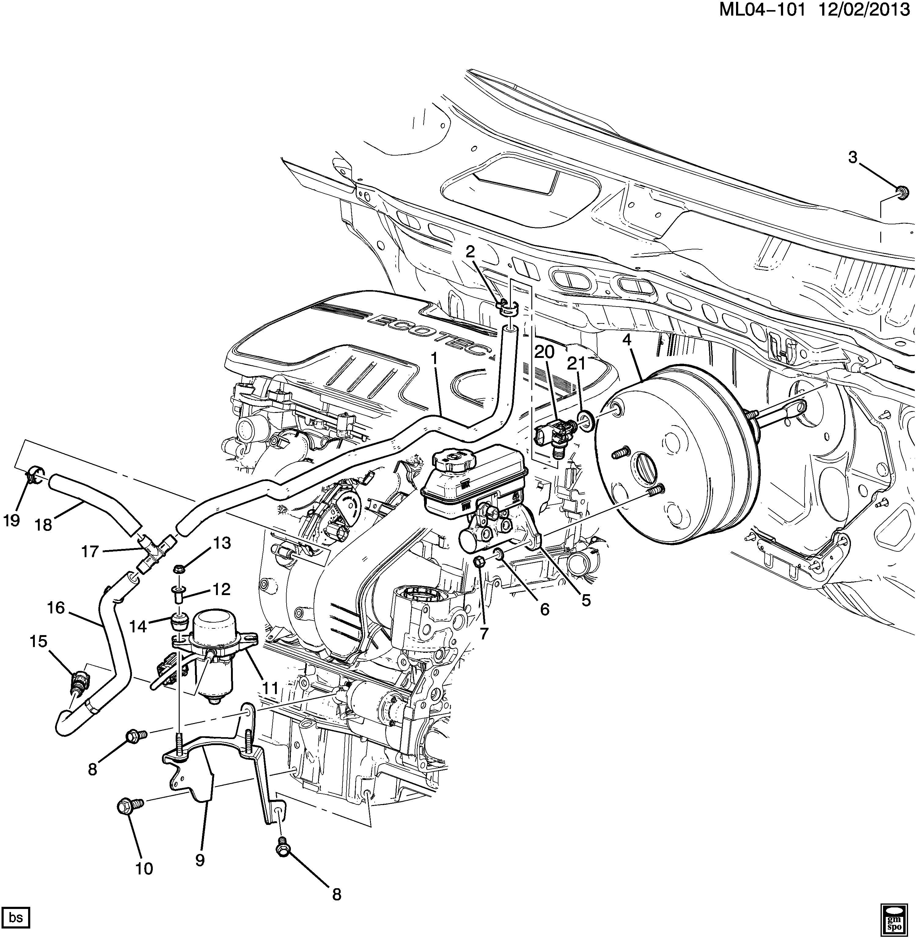 Chevrolet Equinox Pump Hydraulic Power Brake Booster
