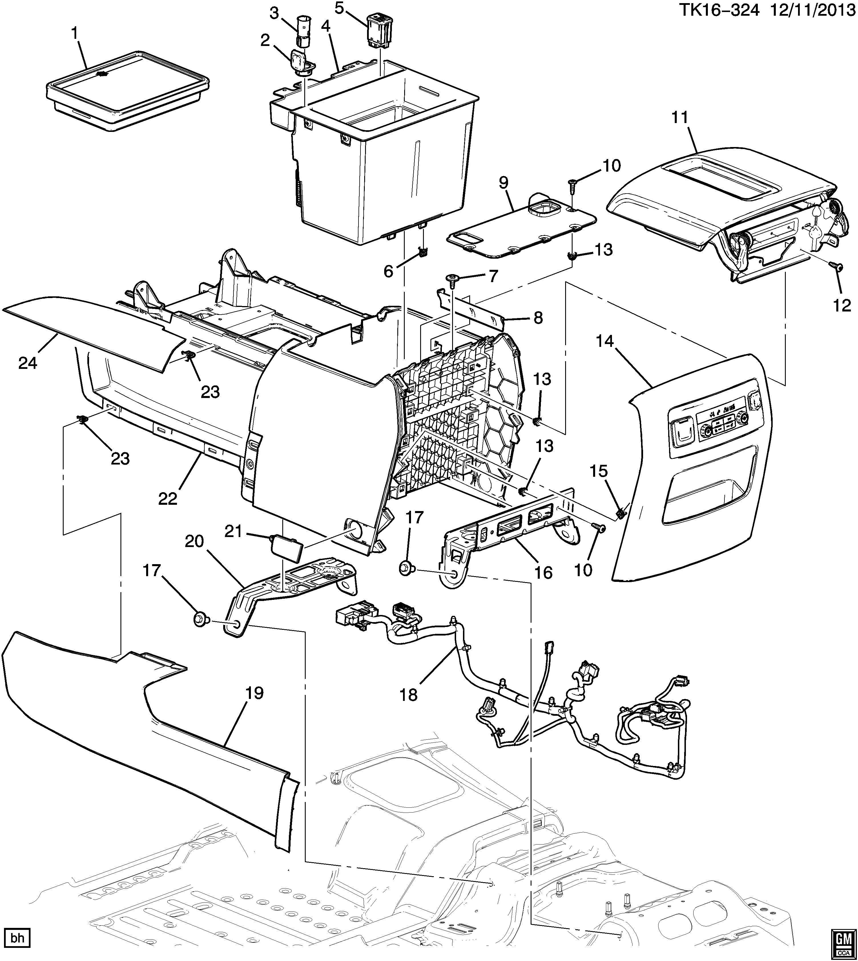Chevrolet Silverado Console Floor Part 2 Lower