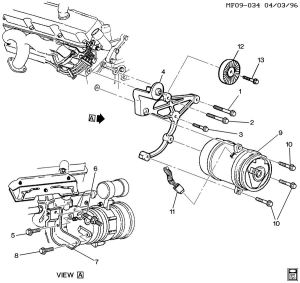 38 V6 AC Compressor Bracket  Extinct?  General Engine
