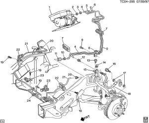 Chevrolet K2500 BRAKE LINESFRONT