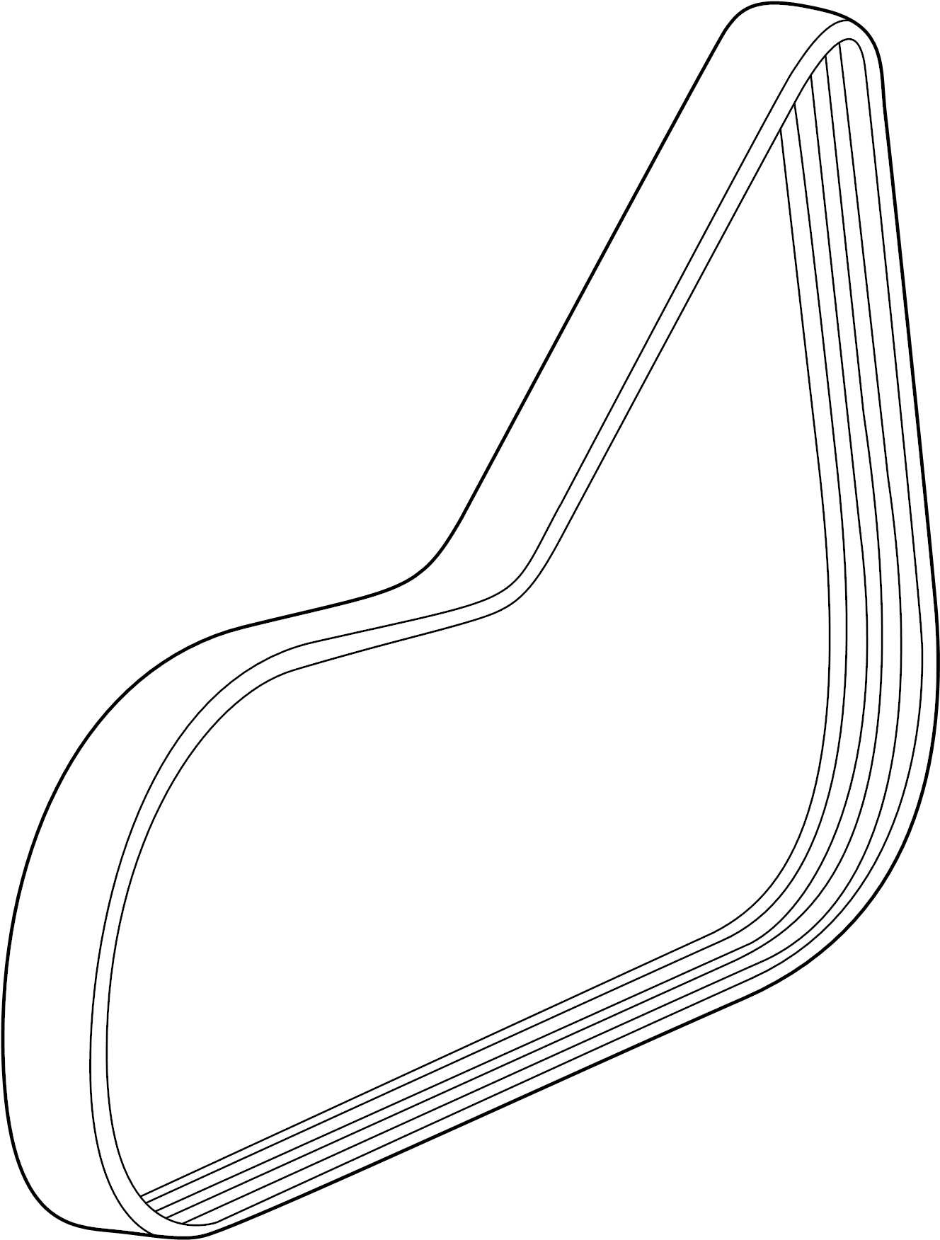 Chevrolet Cruze Belt Drive Belt W Pmp Amp A C Cmpr