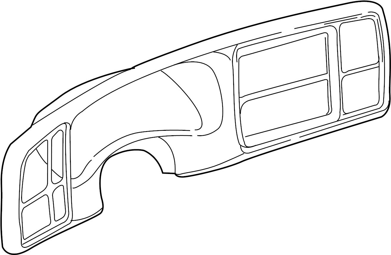 Chevrolet Tahoe Bezel Instrument Cluster Bezel I P Cstr