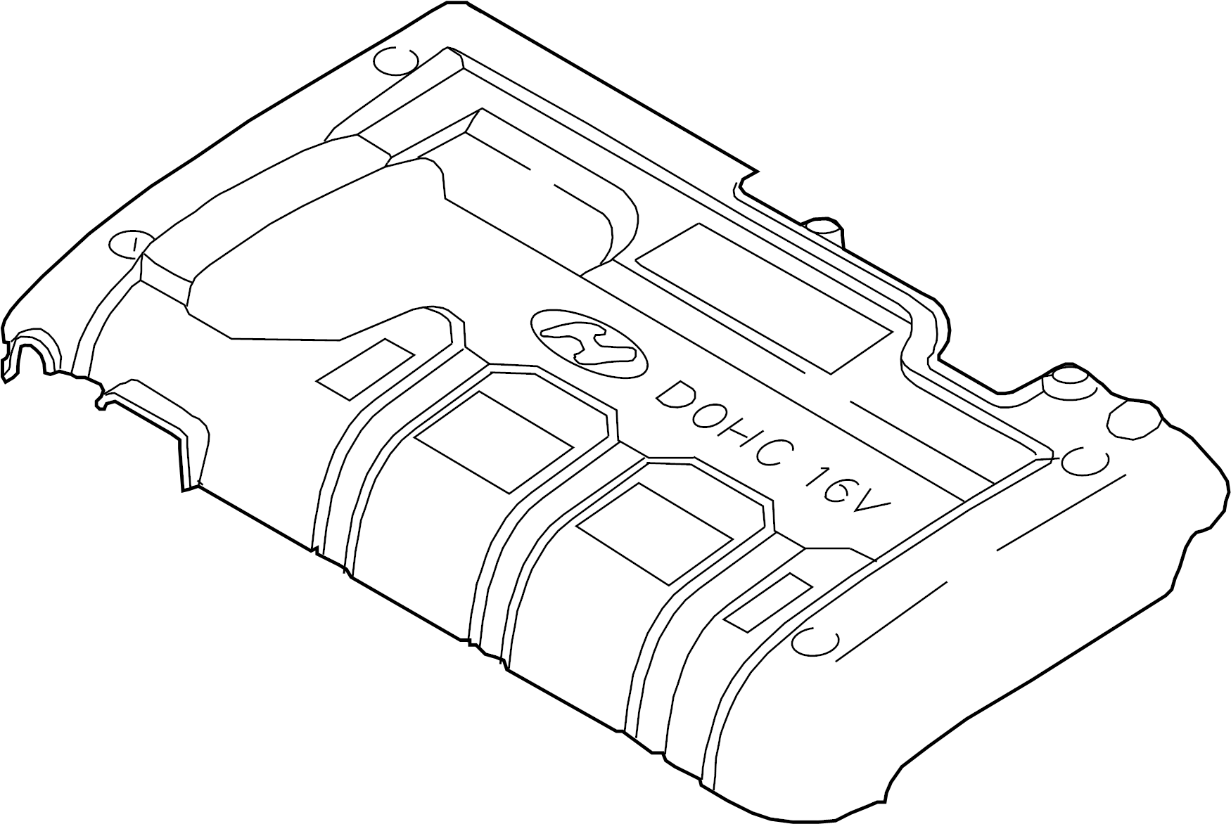 Hyundai Elantra Cover Assembly