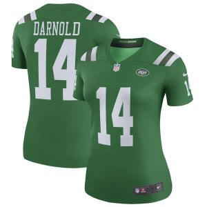 Women's New York Jets Nike Sam Darnold Green Color Rush Legend Jersey