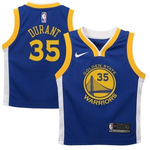 Toddler Golden State Warriors Kevin Durant Nike Royal Replica Jersey - Icon Edition