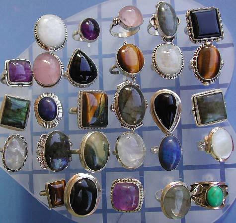 Wholesale Gem Stone Jewelry Semi Precious Ring Lapis