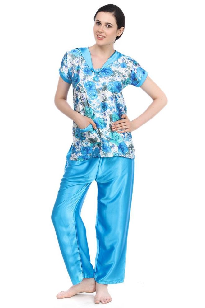 Image result for satin night suit for ladies