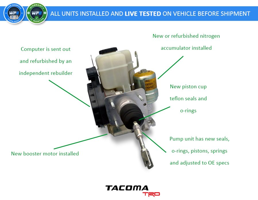2012- 2015 Toyota Tacoma Complete ABS Unit Assembly *Refurbished* (Part  Number: 89541-04081)
