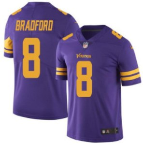 Nike Vikings #8 Sam Bradford Purple Youth Stitched NFL Limited Rush Jersey