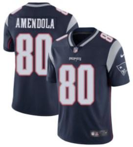 Nike Patriots #80 Danny Amendola Navy Blue Team Color Men's Stitched NFL Vapor Untouchable Limited Jersey
