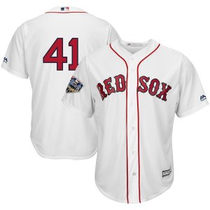 Men's Boston Red Sox Chris Sale Majestic White 2018 World Series Cool Base Player Number Jersey