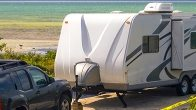 travel trailer on the beach