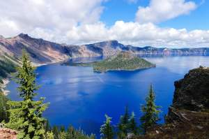 the incredibly beautiful Crater Lake, Oregon, a caldera left fro
