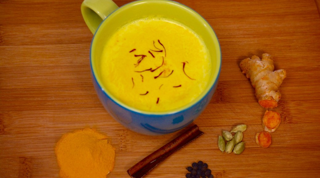 Ayurvedic Turmeric Milk has amazing benefits for your health. Cures Cold and Cough, Purifies Blood, Anti Cancer, Anti Inflammation, First Aid, etc.