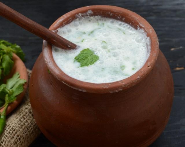 Nutrition, Ayurvedic Health Benefits of Buttermilk, Chhas, Mattha, Tak. Helps Digestion, Balances Tridosha. Proteins, vitamins, enzymes, etc.