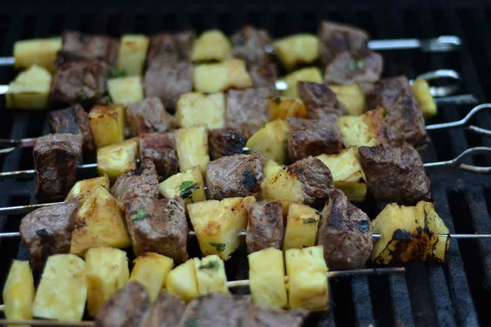 Grilled Thai Beef and Pineapple Kabobs 3
