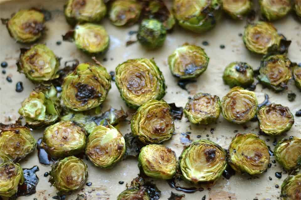 Roasted Honey Garlic Balsamic Brussel Sprouts 2