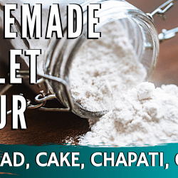 millet flour atta home made