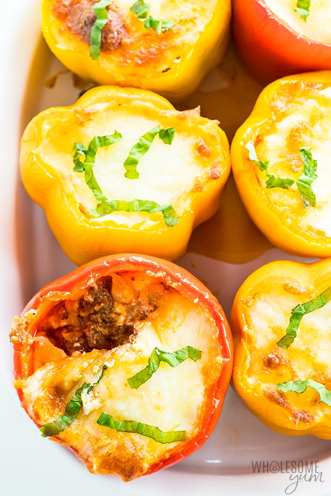 Keto Lasagna-Stuffed Peppers