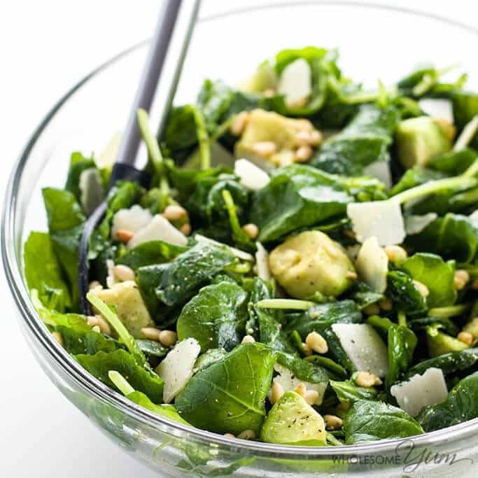 Baby Kale Avocado Salad with Parmesan