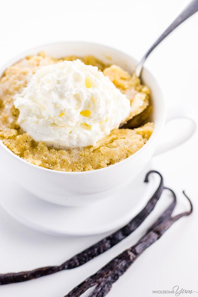 Keto Paleo Vanilla Mug Cake