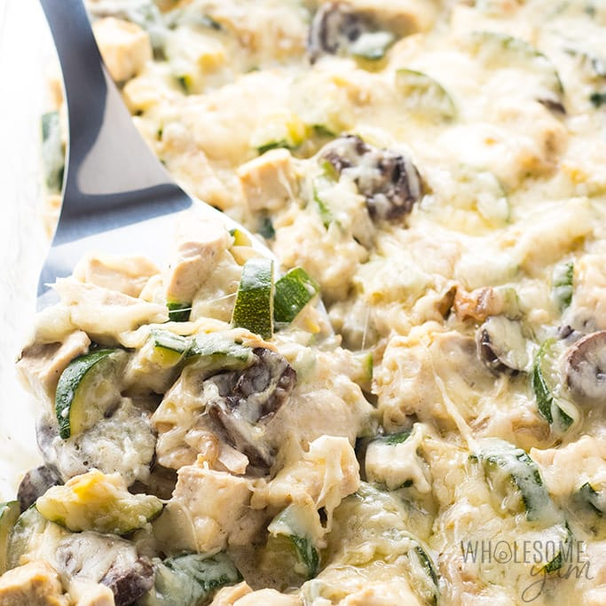 Chicken Zucchini Casserole With Gruyere Cheese Sauce