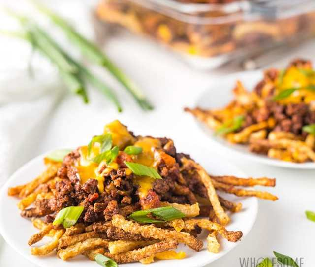 Keto Air Fryer Jicama Fries Recipe Chili Cheese Fries Learn How To