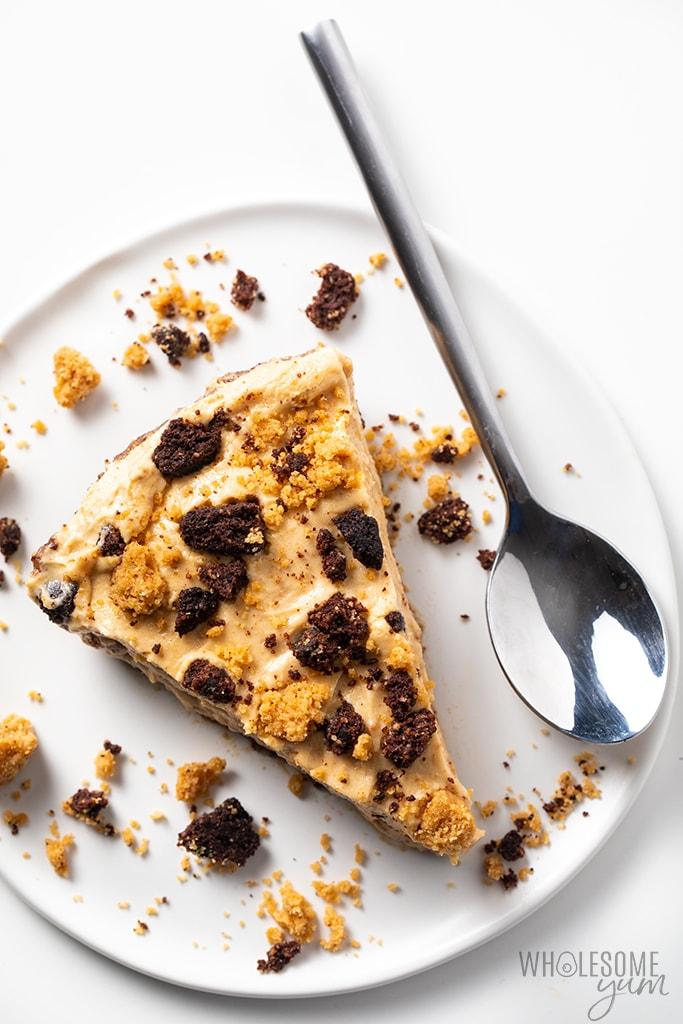 Keto No-Bake Peanut Butter Pie