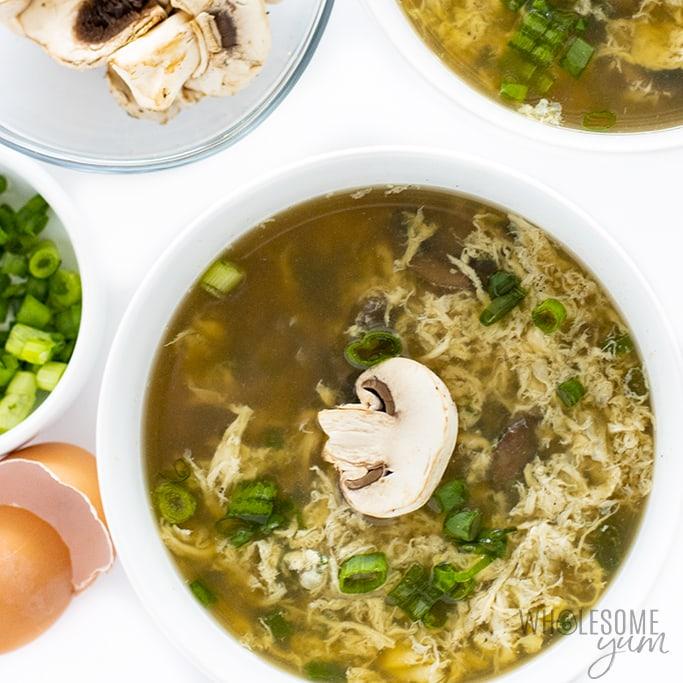 Keto Egg Drop Soup Recipe