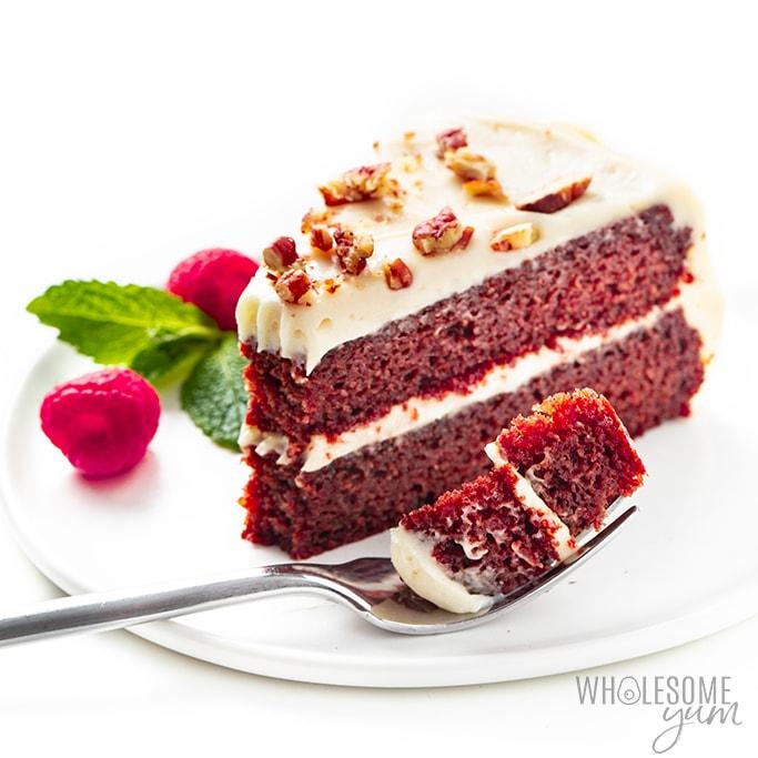Keto Red Velvet Cupcakes