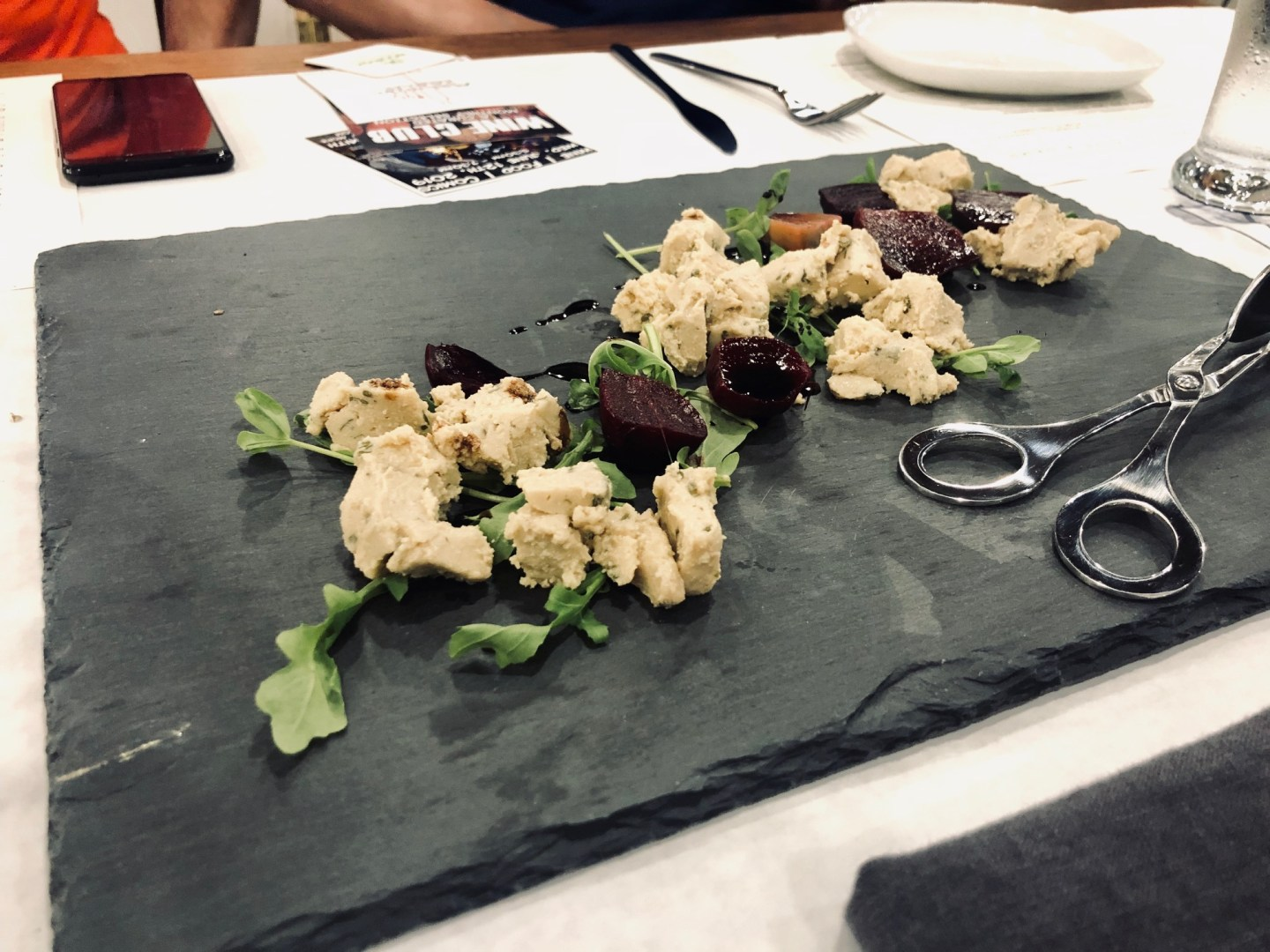 vegan cashew cheese with roasted beets