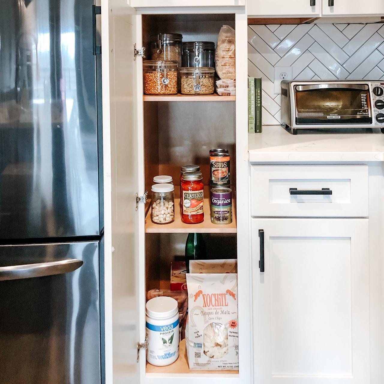bulk foods in stocked pantry for quarantine