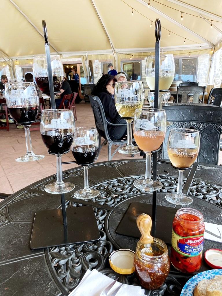 Raffaldini Winery wine tasting flights