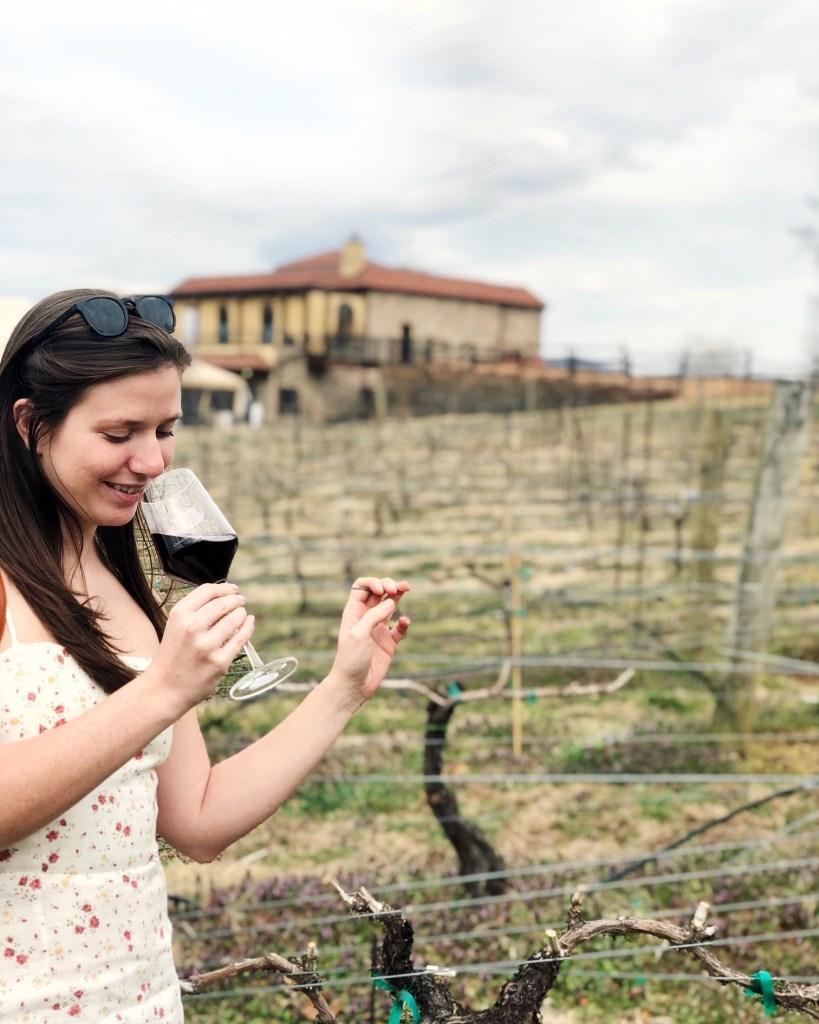 Sydney Isaacs wine tasting Raffaldini Winery
