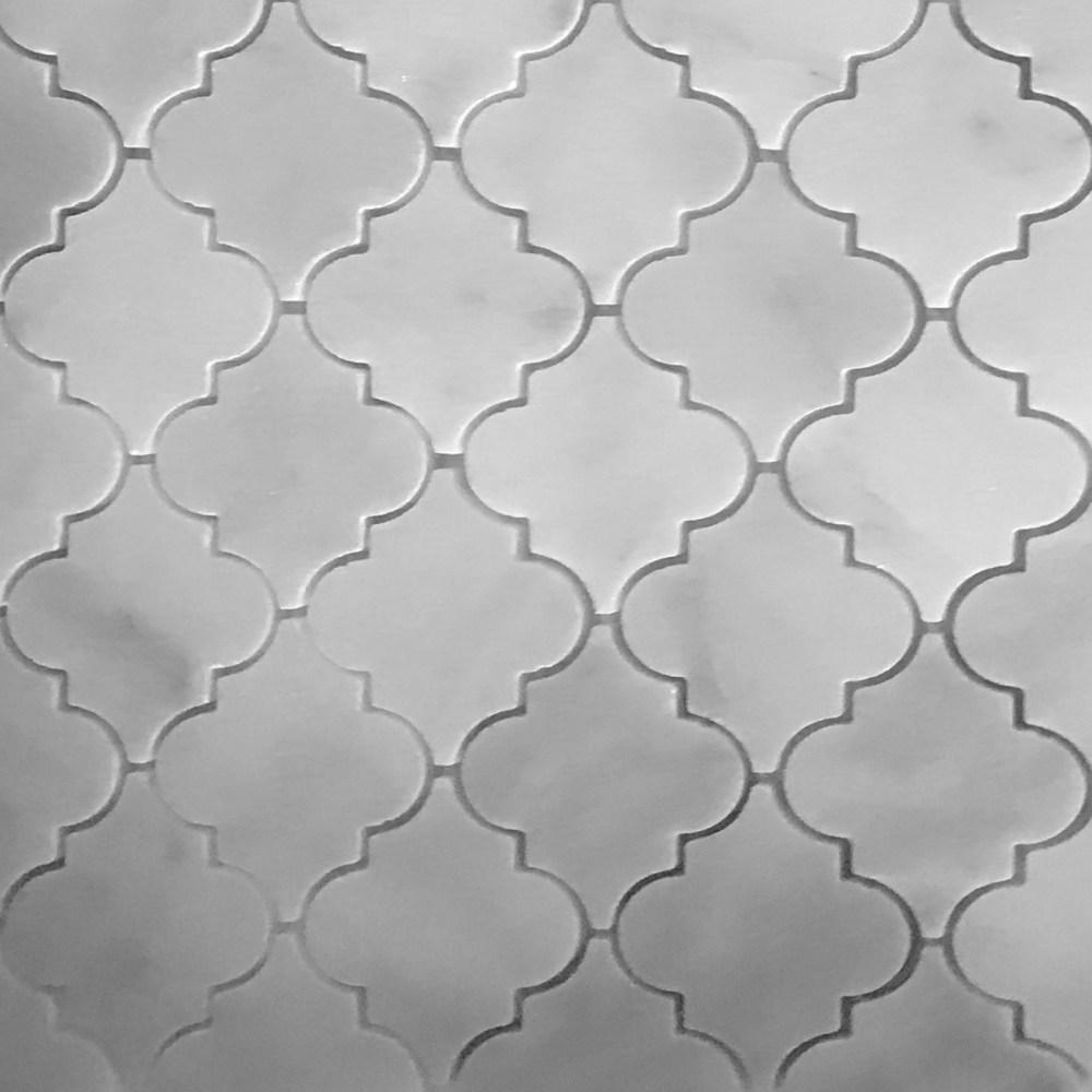 lantern arabesque mosaic tile white marble polished