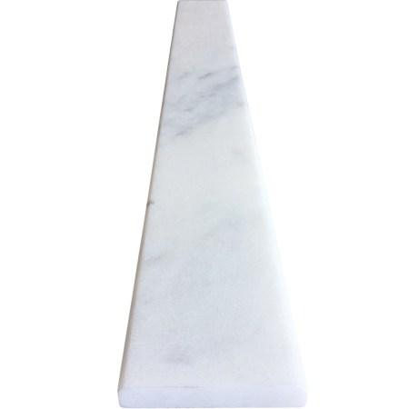 4 x 48 saddle threshold white marble stone