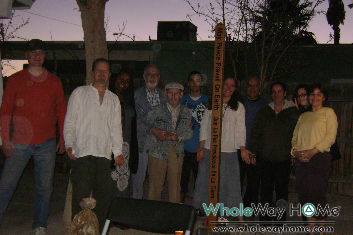 WholeWay Home 5 Peace Pole Dedication with 8 languages of World