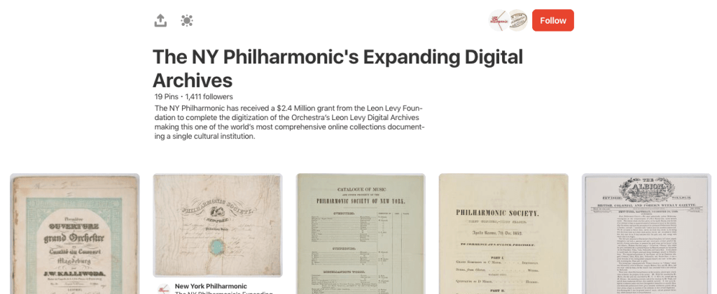 The New York Philharmonic's Archives board on Pinterest
