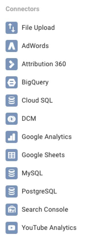 How to use Google Data Studio connectors