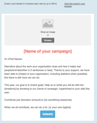 lapsed donors email template