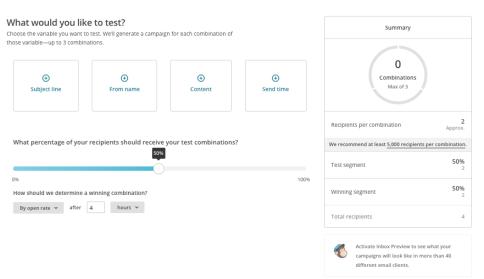 mailchimp ab testing