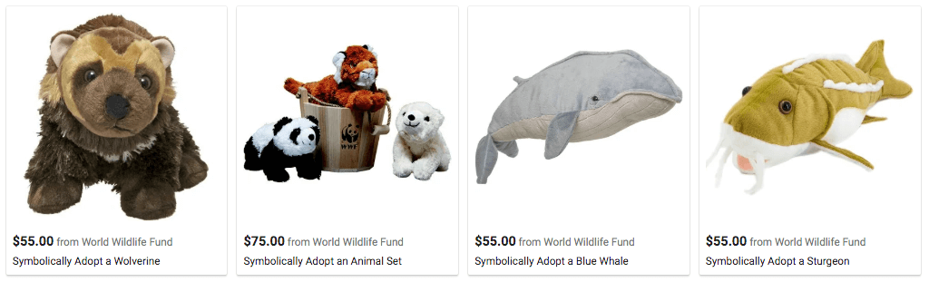 Google Shopping results for World Wildlife Fund